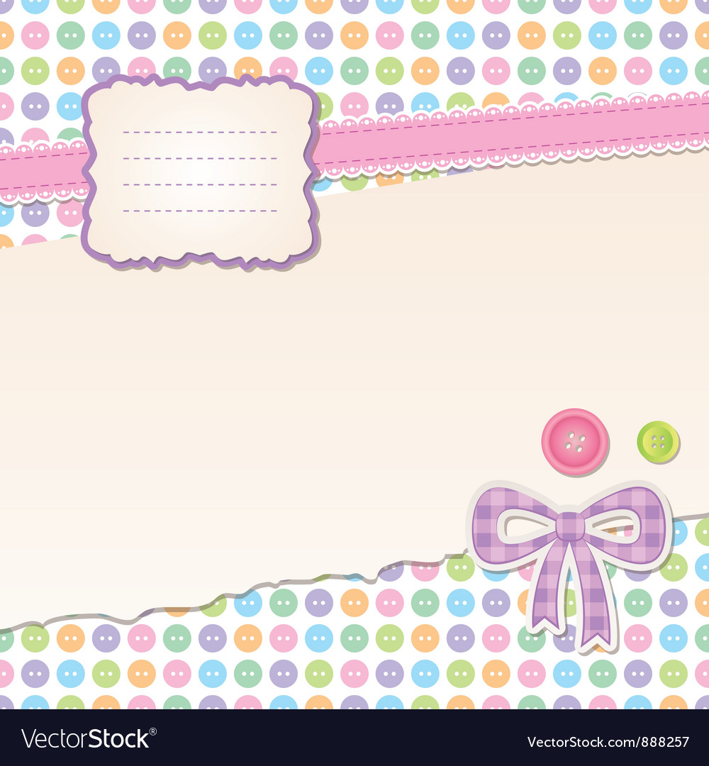 Scrapbook set vector