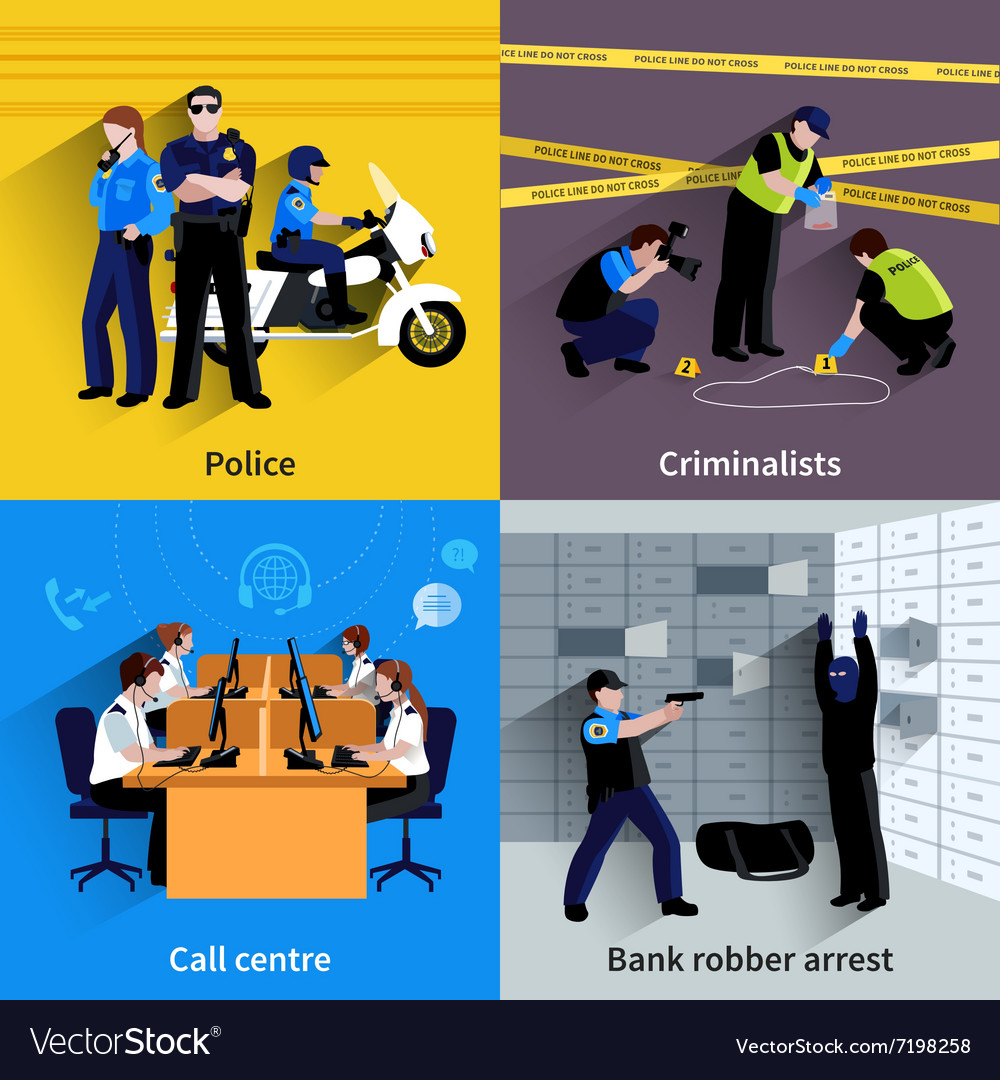 Policeman people square concept vector