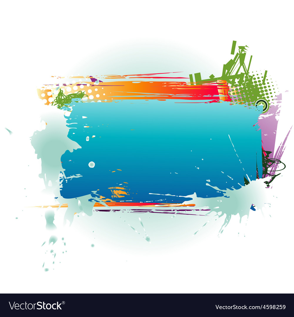 Abstract colorful text box vector