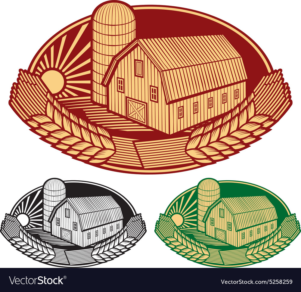 Farm label vector