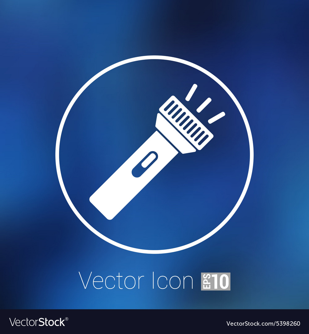 Flashlight icon torch pocket light shine vector