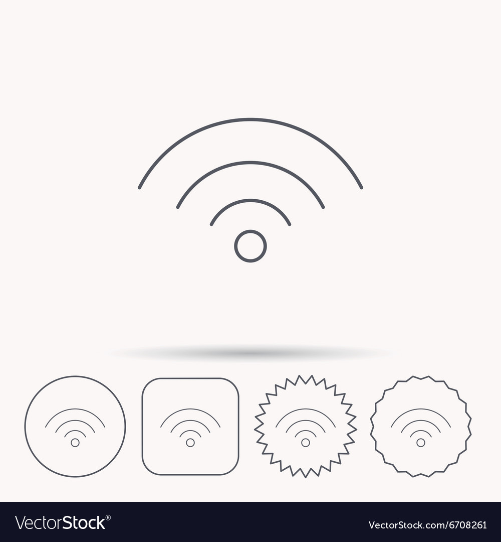 Wifi icon wireless wifi network sign vector