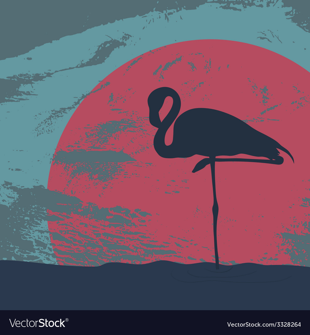 Flamingostand20 vector