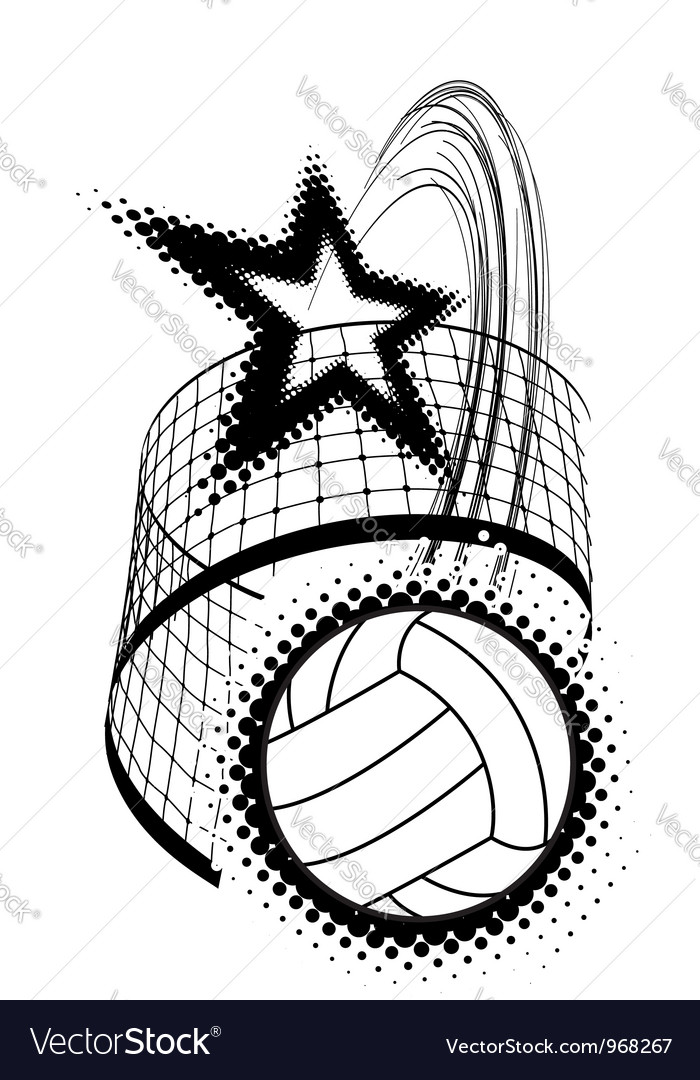 Volleyball sport design element vector