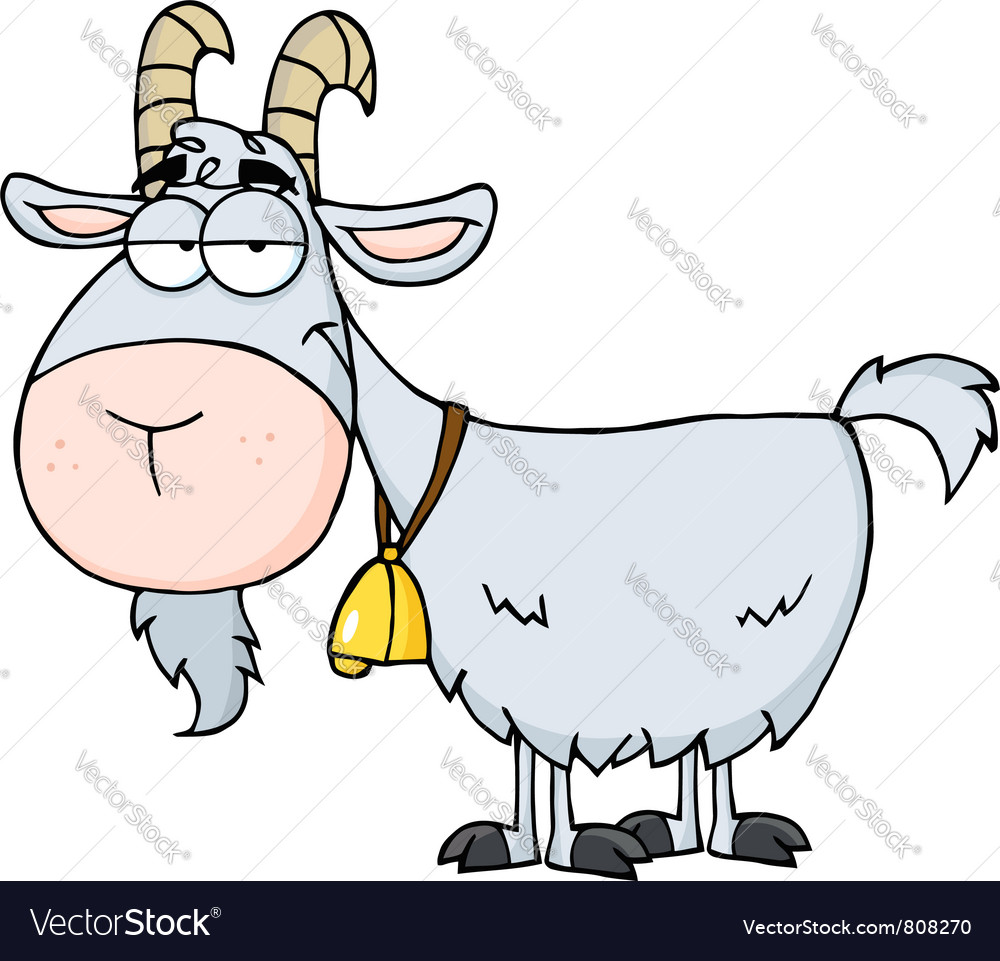Gray goat vector