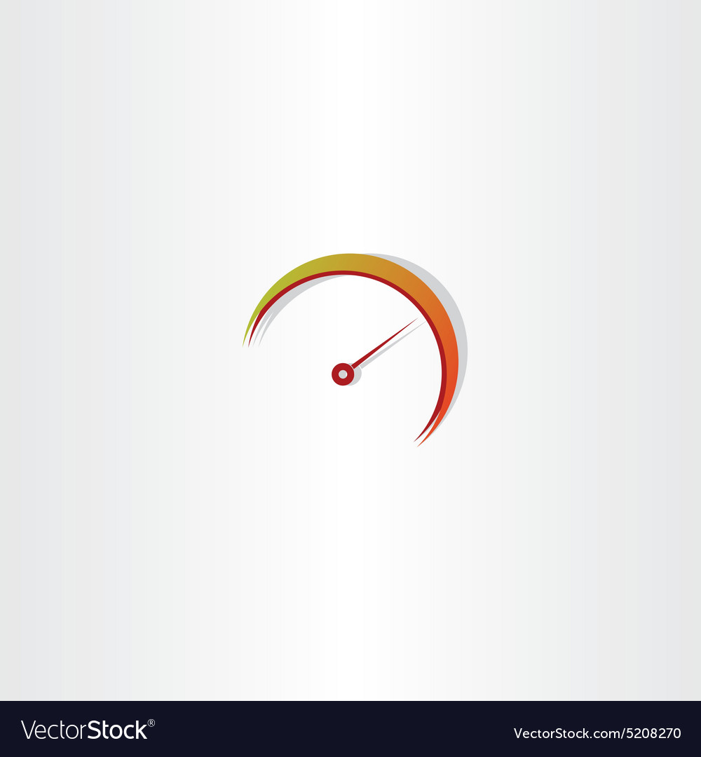 Speedometer icon element vector