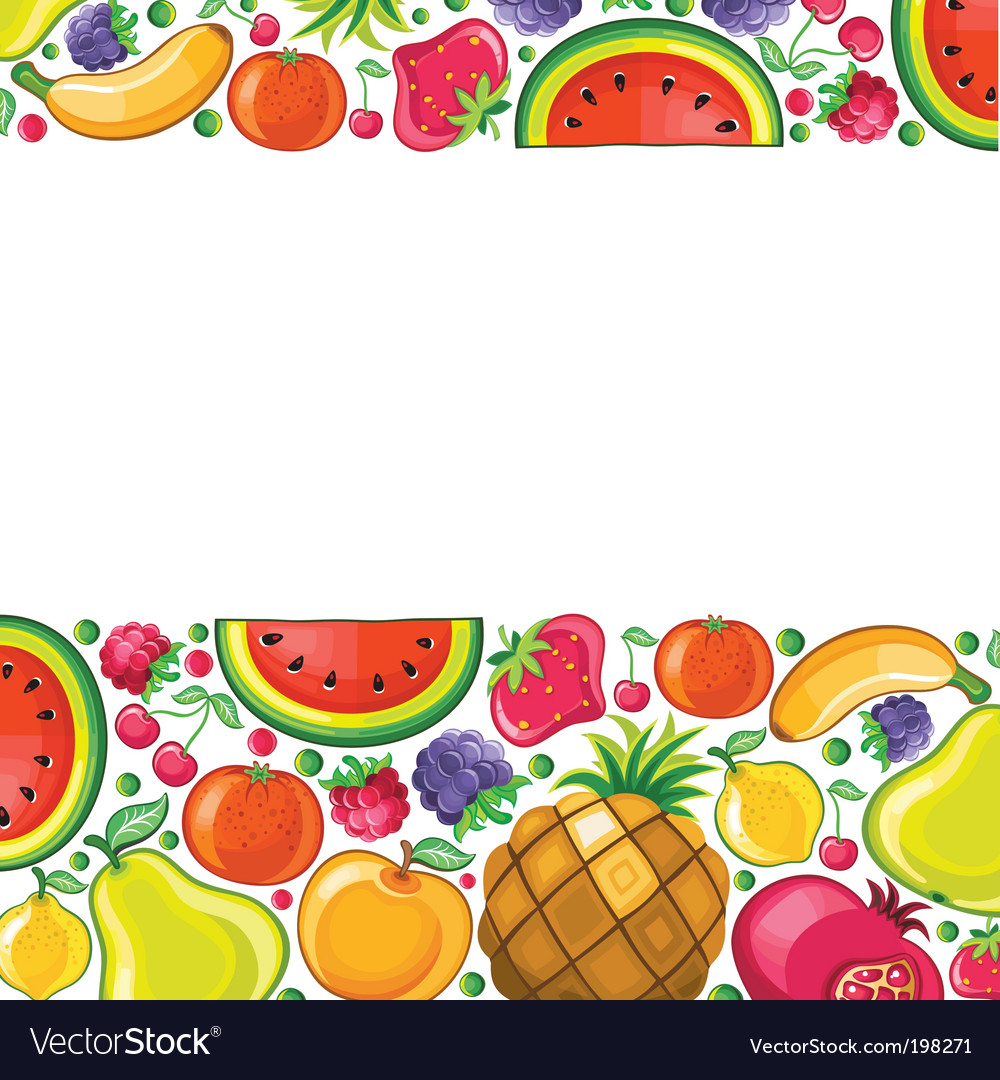 Fruit background series vector