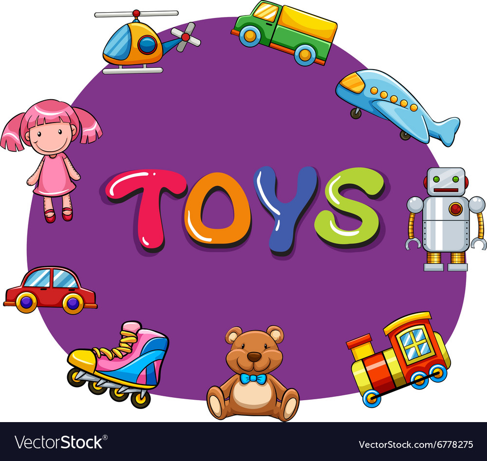Different kind of toys vector