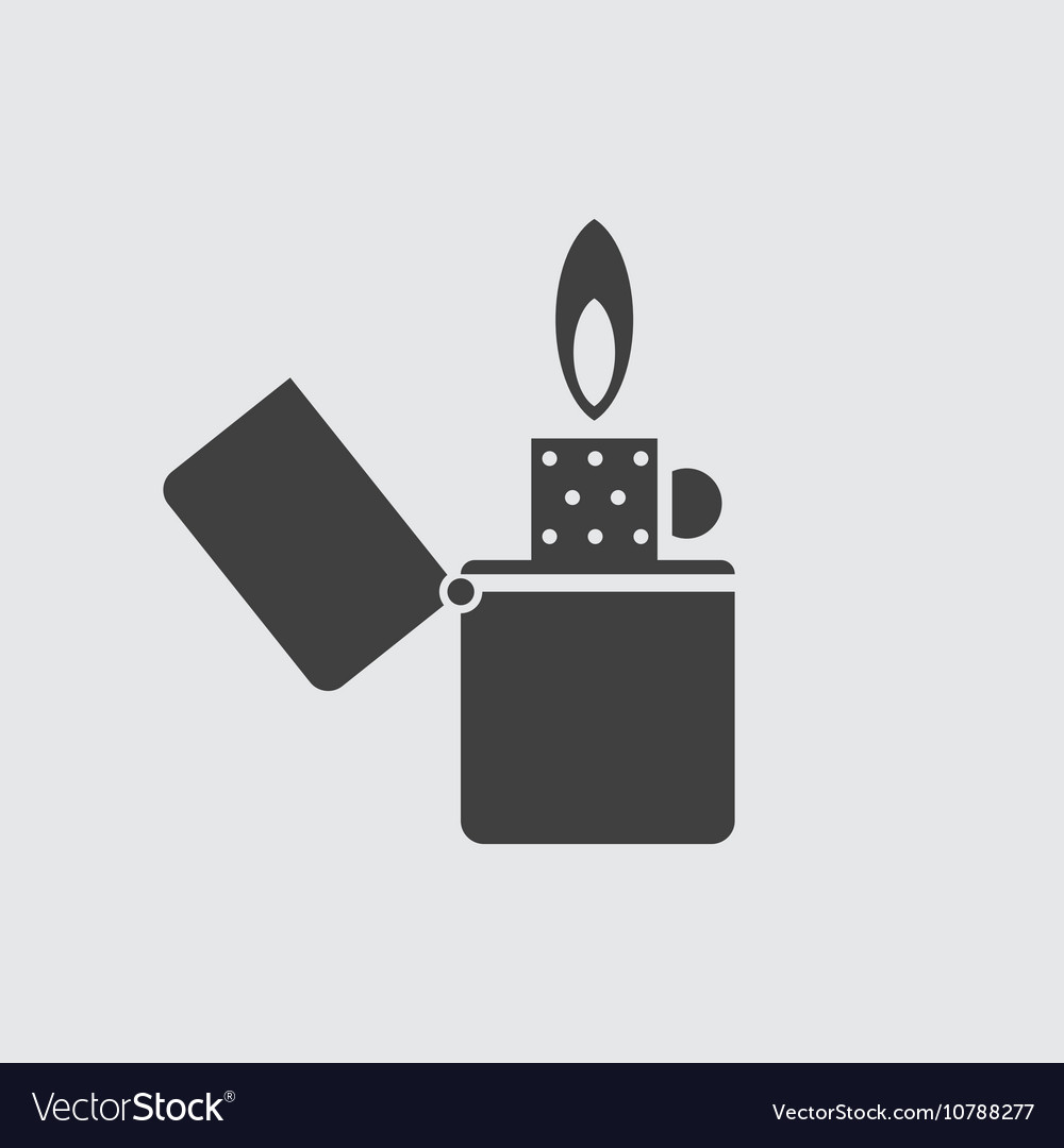 Lighter icon vector