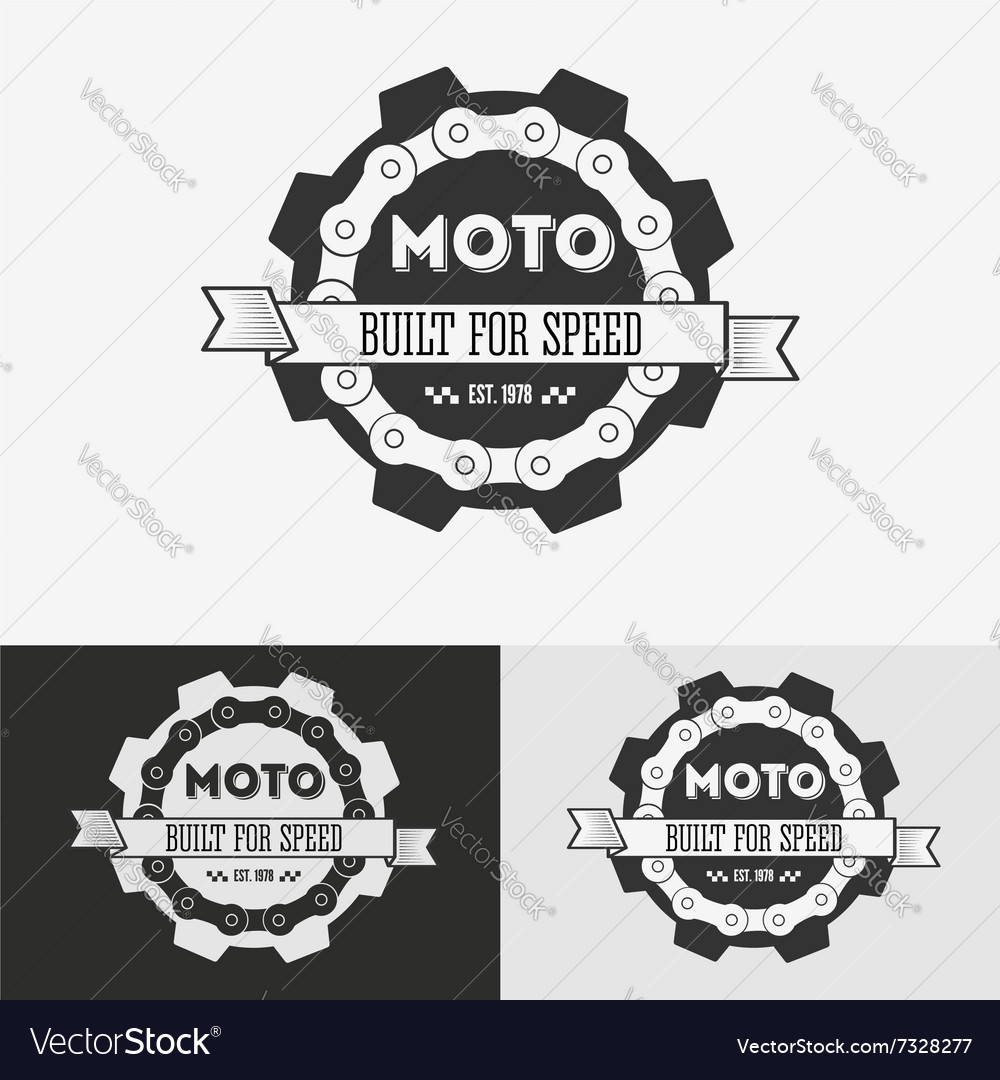 Vintage label with chain vector