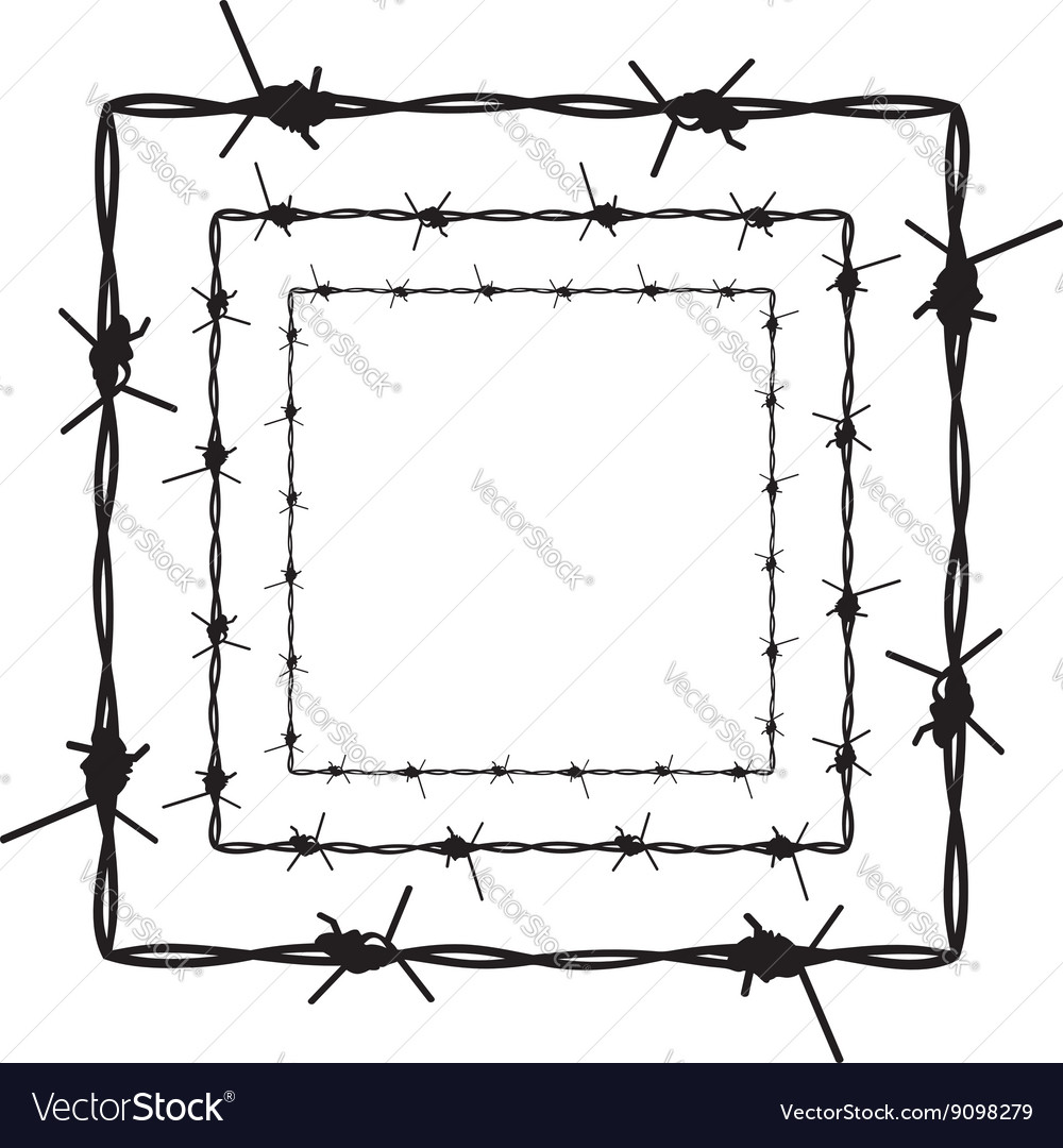 Barbed wire silhouette4 vector