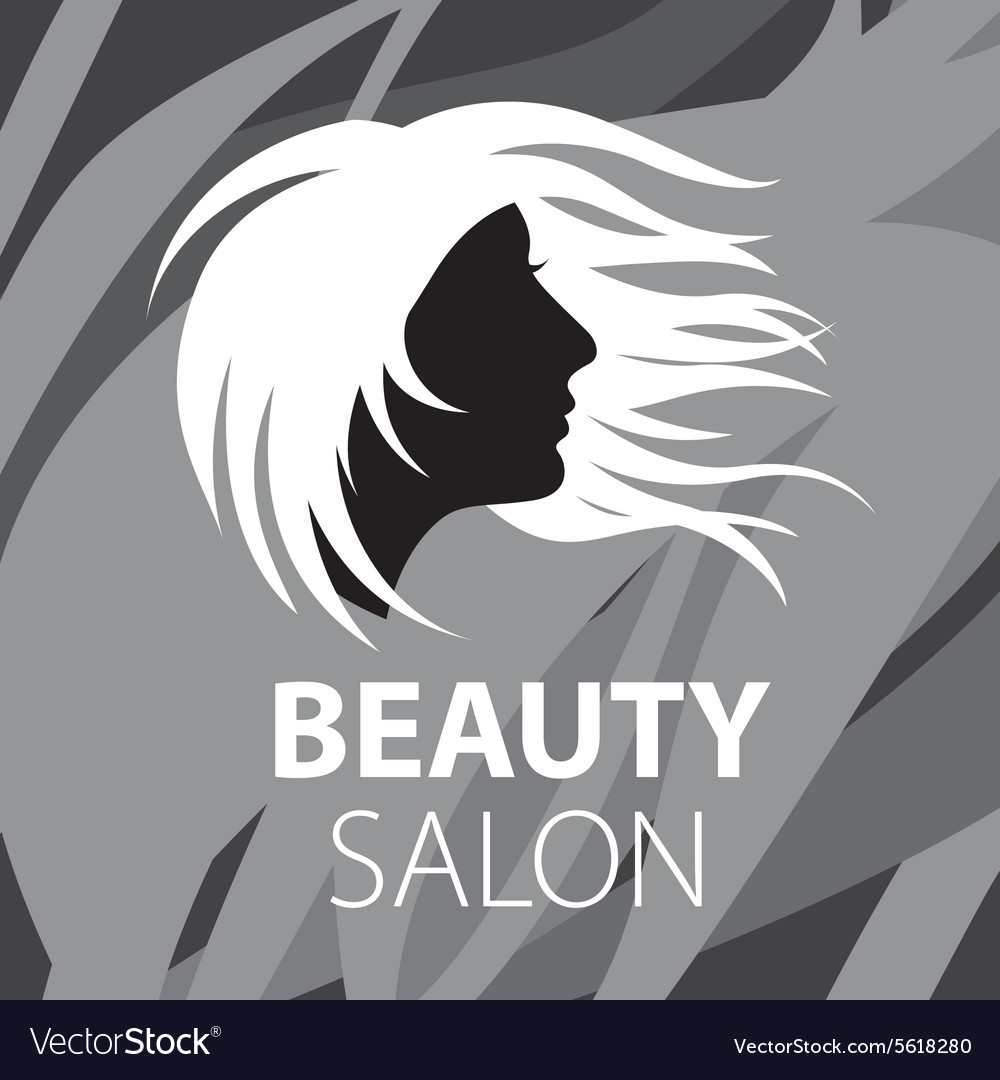 Logo fluttering female hair vector