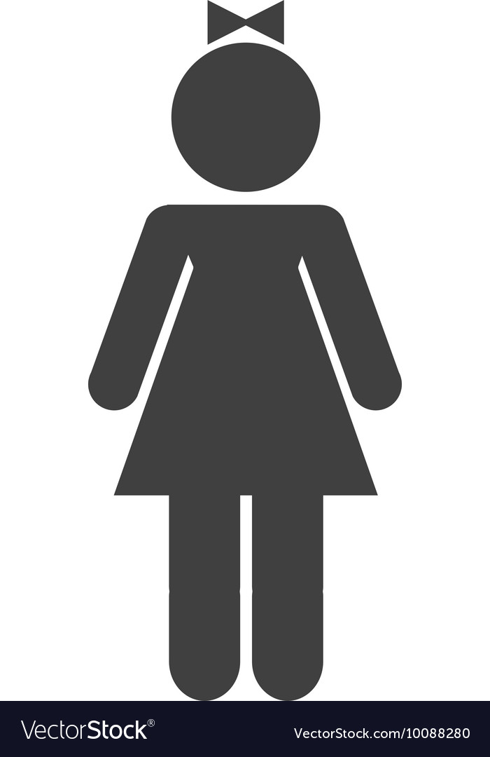 Woman female silhouette isolated icon vector