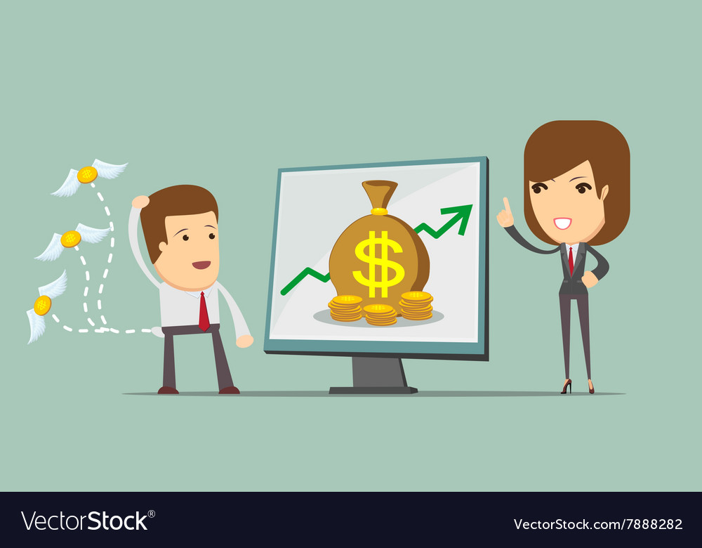 Business woman showing on the board vector