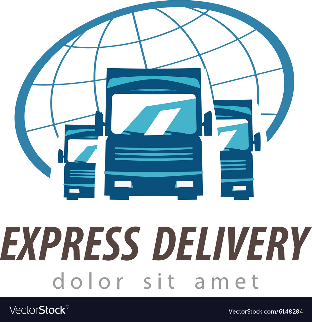 Truck logo design template traffic or vector