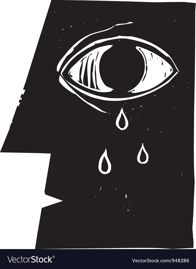 Crying eye vector