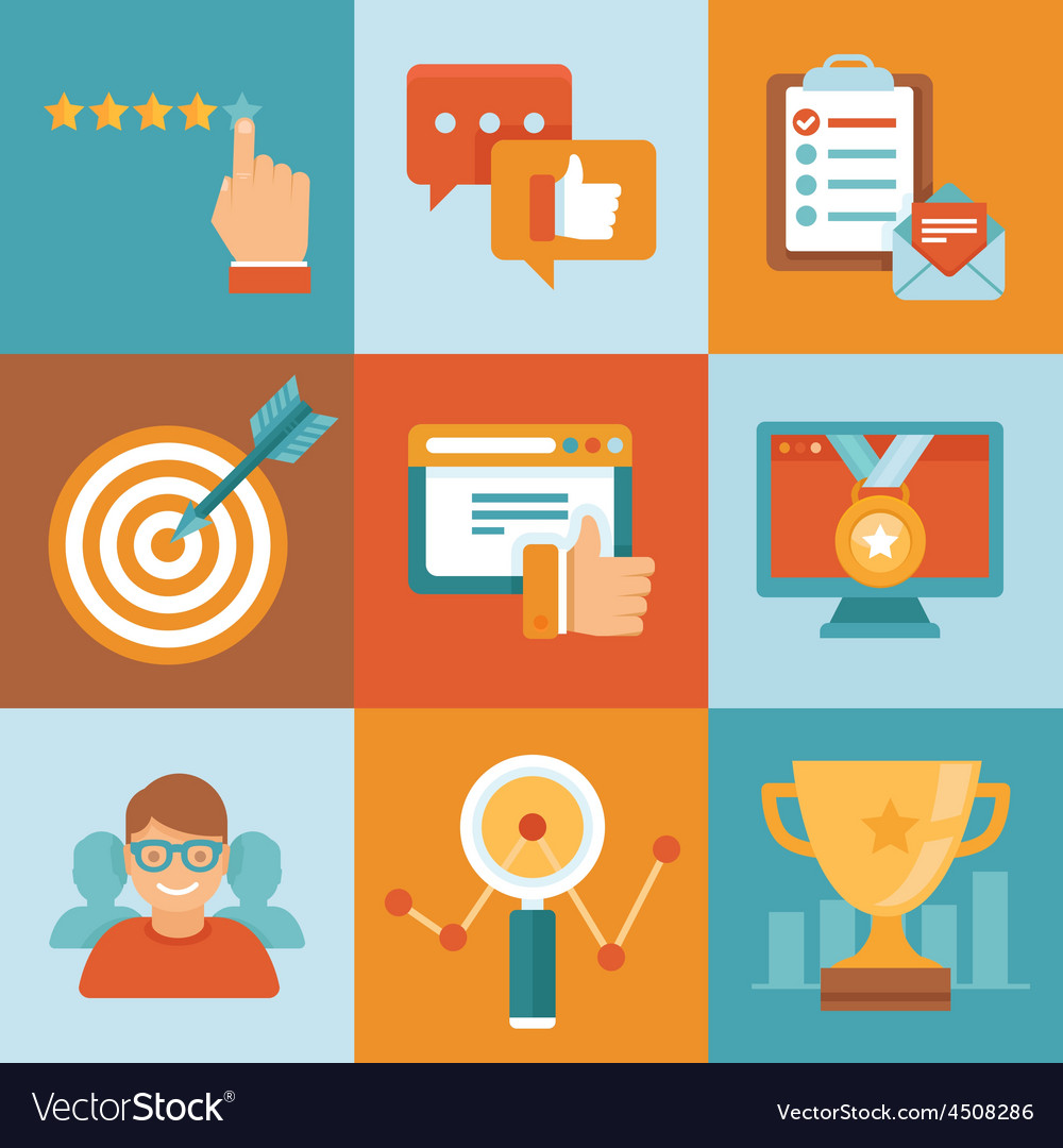 Flat customer service concepts vector