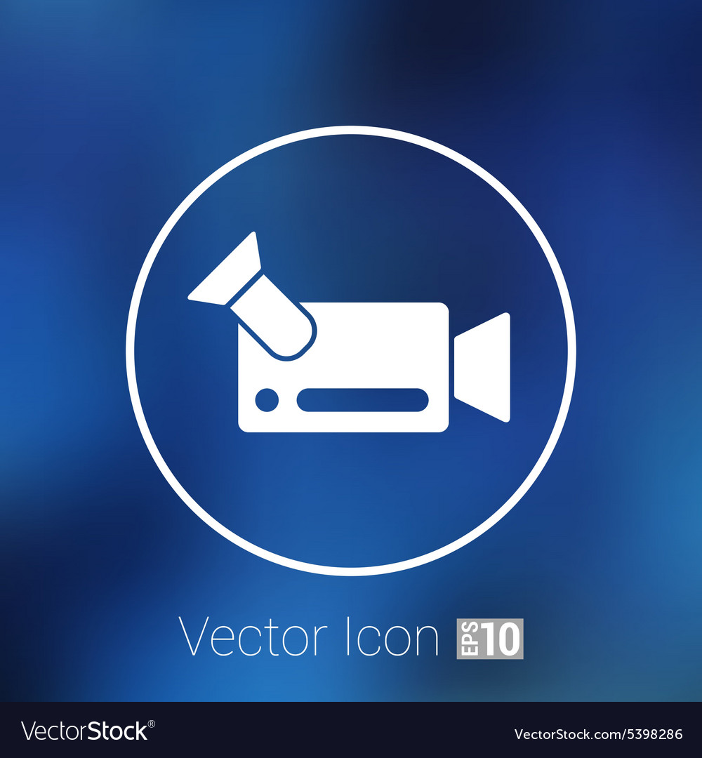 Icon video camera isolated footage square vector