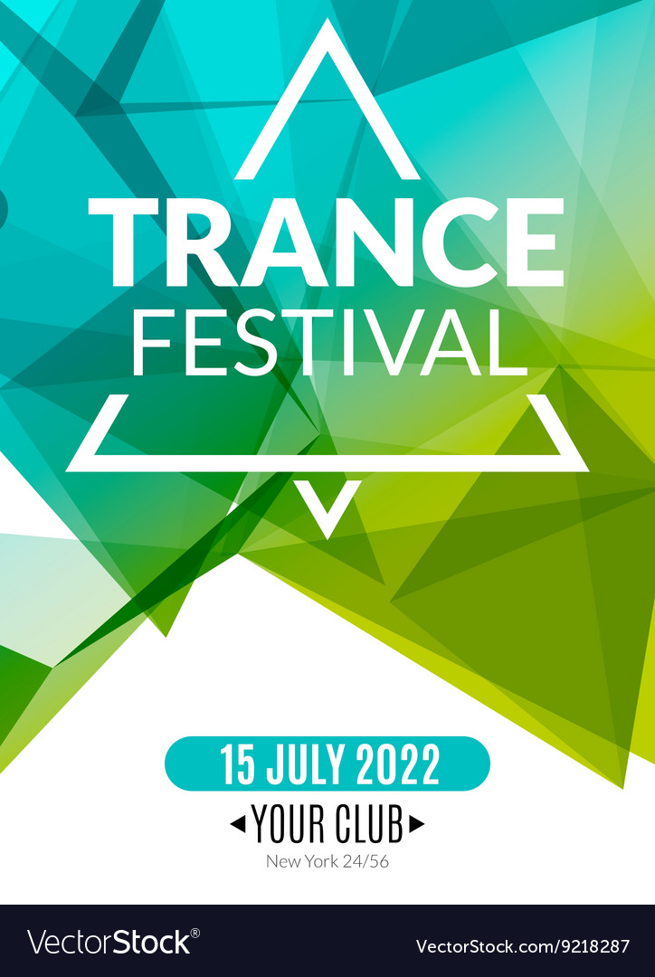 Club electronic trance festival music poster vector