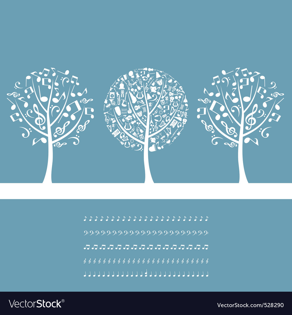 Musical tree vector
