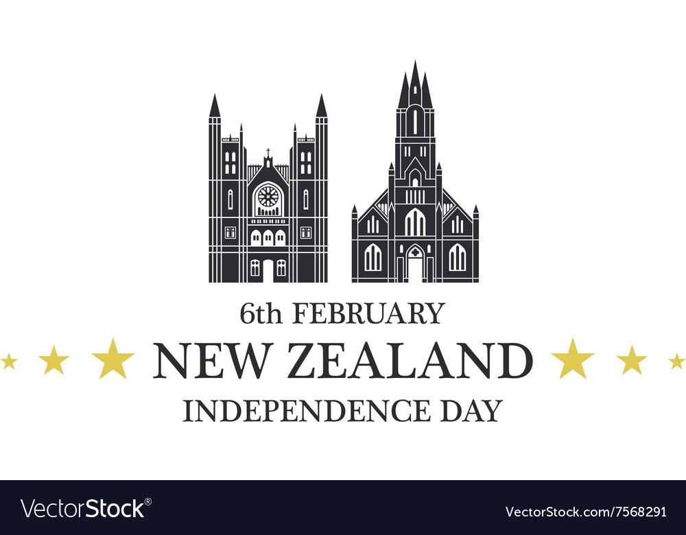 Independence day new zealand vector