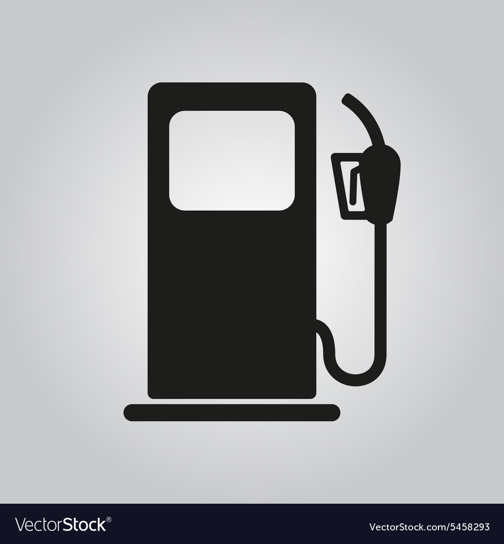 Gas station icon gasoline and diesel fuel vector
