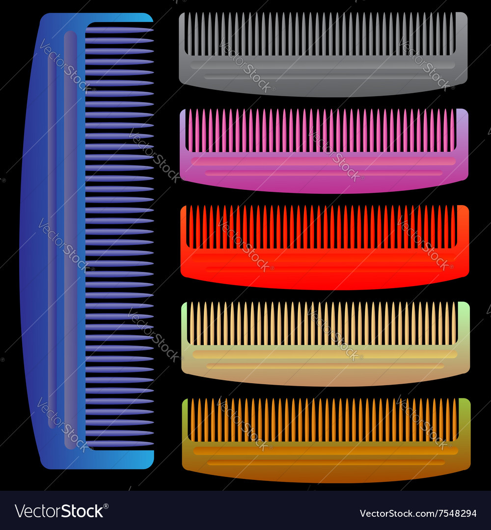 Set of colorful combs vector