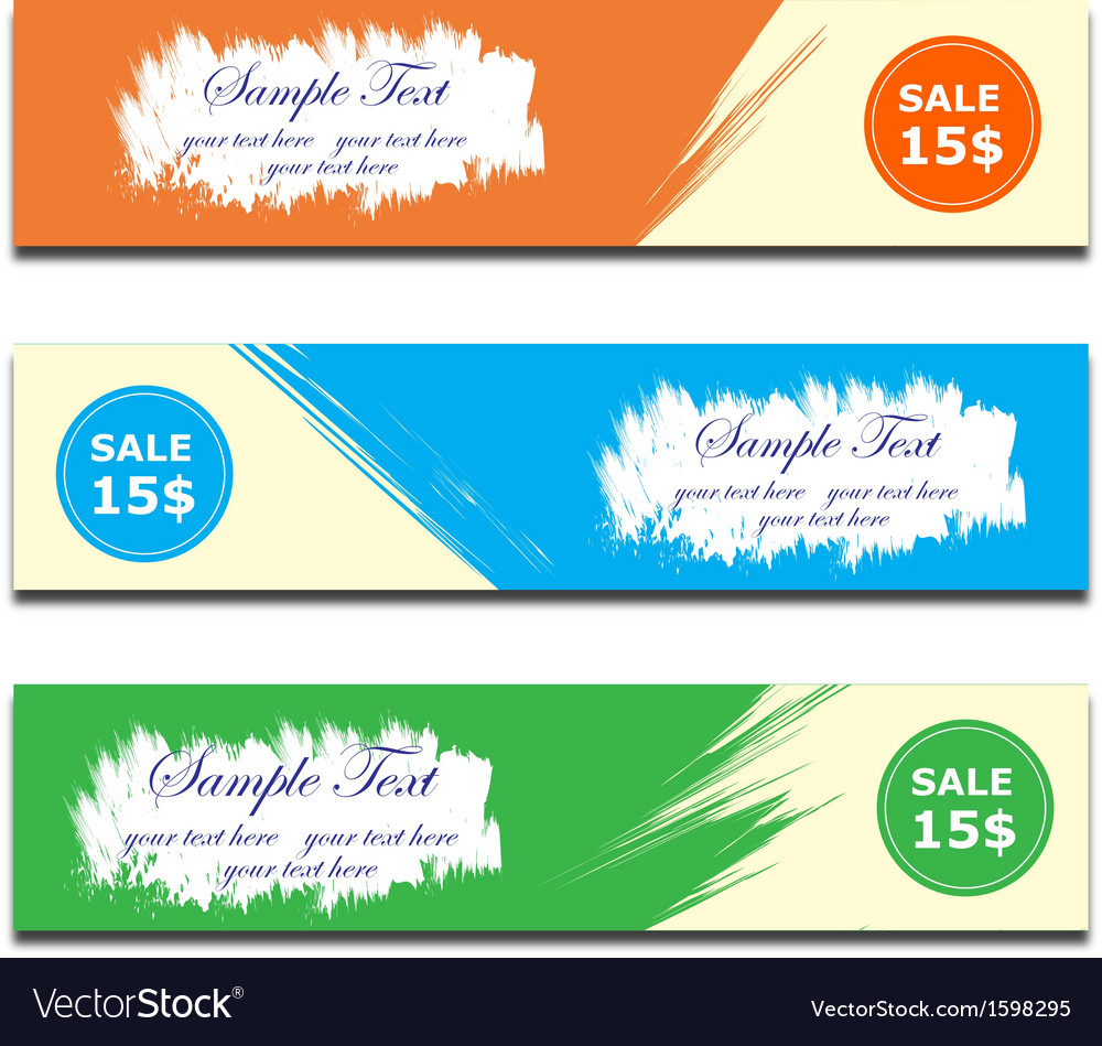 Banner brush paint vector