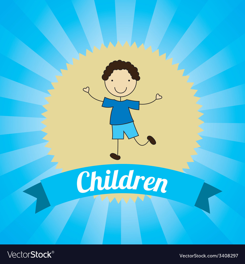 Children design vector