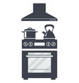 icon of kitchen electric oven vector image vector image