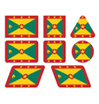buttons with flag of Grenada vector image