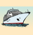 cruise ship vacation sea travel vector image