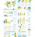 INFOGRAPHIC DEMOGRAPHICS WEB ELEMENTS vector image