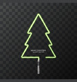 modern concept christmas tree and light vector image