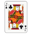 Jack of clubs vector image vector image