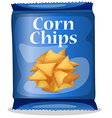 Corn chips vector image vector image