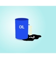 Iron barrel of oil vector image