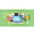 sem search engine marketing seo advertising vector image