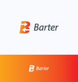 Barter B logo vector image
