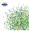 Abstract dot background using Brazil flag colors vector image