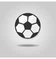 abstract single soccer ball icon vector image