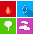 Four Elements Fire Water Air and Earth vector image