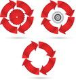 red circle vector image