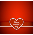 Valentine day invitation card vector image