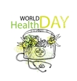 World health day card elements vector image