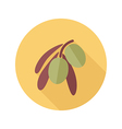 Olive flat icon Tropical fruit vector image