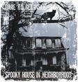 spooky house in neighborhood vector image vector image