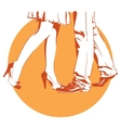 womanish and masculine legs dance vector image