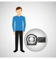 character man movie concept photo video camera vector image