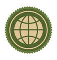 green symbol earth planet icon vector image vector image